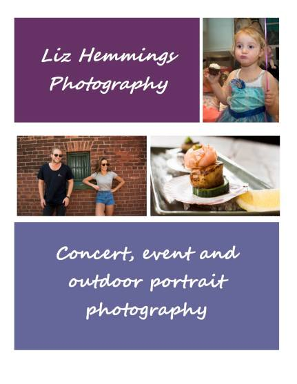 Liz Hemmings Photography brochure