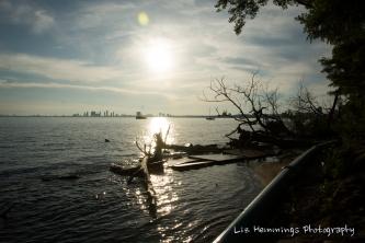 Toronto Island looking towards Hamilton