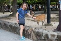Corina with the wildlife