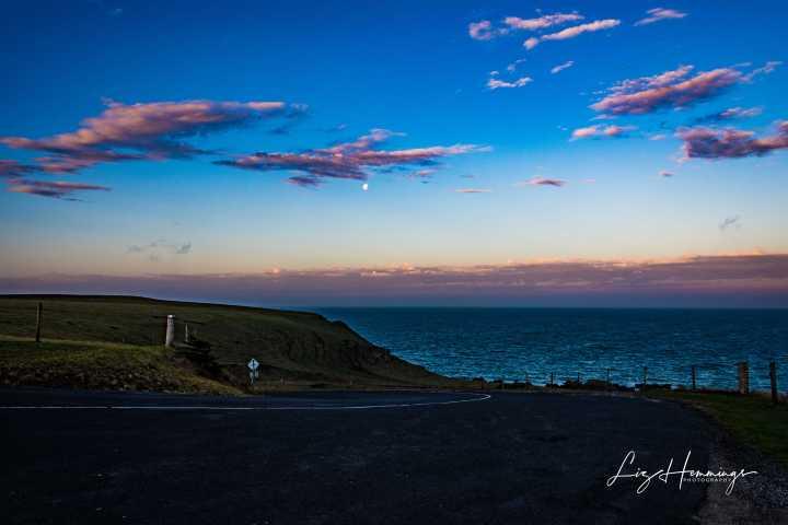 Stanley Headland Sunset Moon Rising April 2019-9423