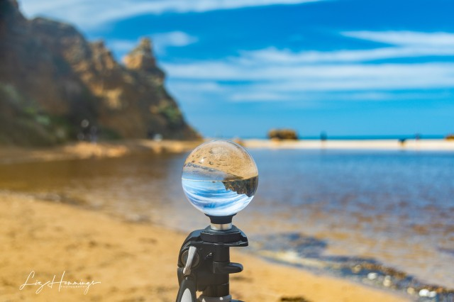 Trying out my new Lens Ball at Aireys Inlet Beach