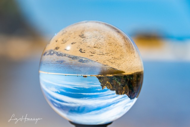 Aireys Inlet Beach through my Lens Ball