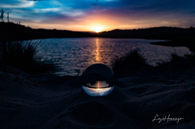 Aireys Inlet Sunset and Lens Ball
