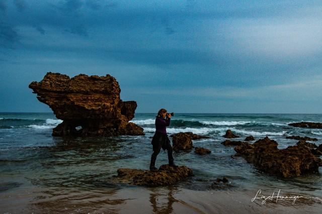 Aireys Inlet Sunset featuring Corina the intrepid adventurer