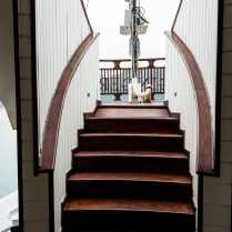 beautiful stairs to the top deck